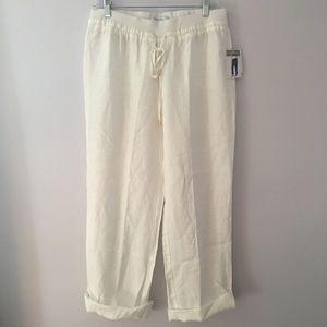 Ellen Tracy linen folded pants
